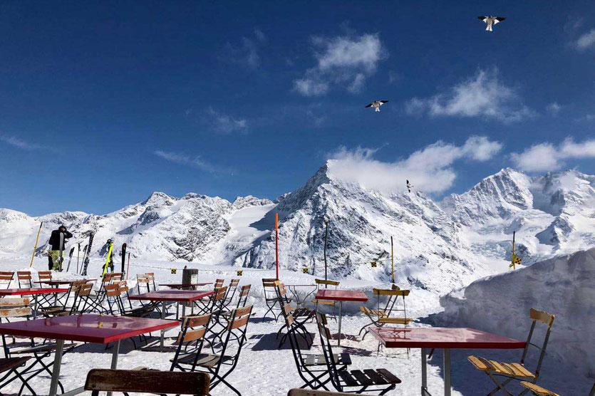 St. Moritz Corvatsch Bergpanomrama Skihütte Berghütte