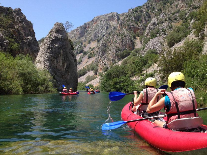 Kayak Safari auf dem Zrmanja Fluss mit Riva Rafting Centar in Obrovac