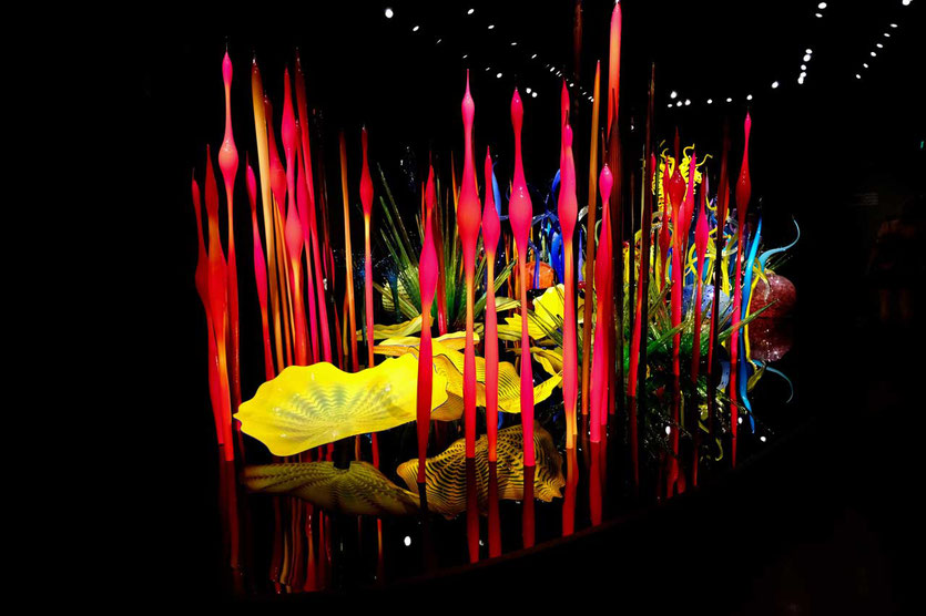 Florale beeindruckende Glaskunst Chihuly Garden and Glass Museum Seattle