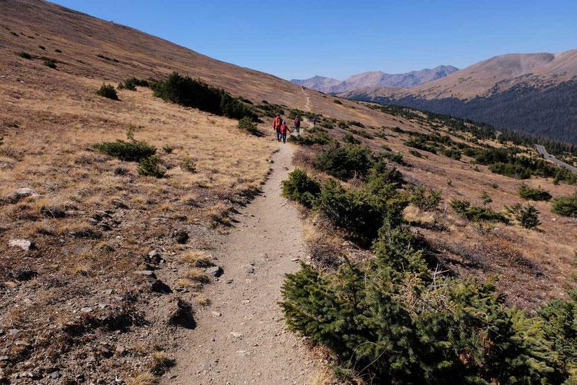 Auf dem Ute Trail vom Alpine Visitor Center Rocky Mountain NP