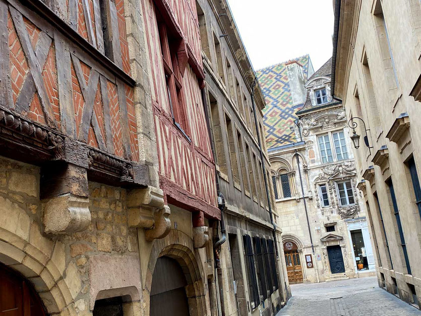 Fachwerkhäuser in Dijon