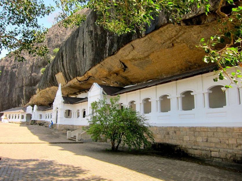 Dambulla temple Sri Lanka, Höhlentempel