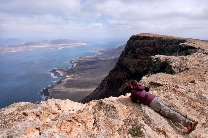 Risco de Famara Gebirge Kliff-Wanderung Lanzarote