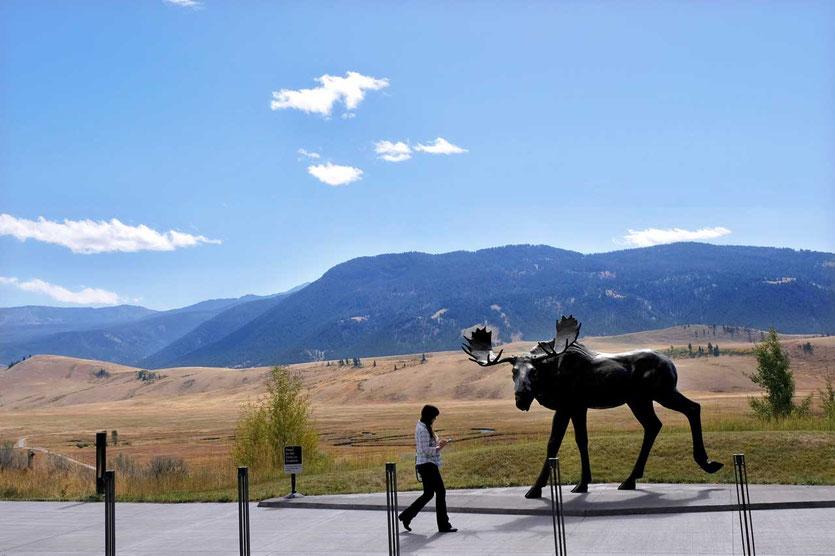 Sandy Scott's Elch Skulptur am National Museum of Wildlife Art, Jackson Hole Grand Teton