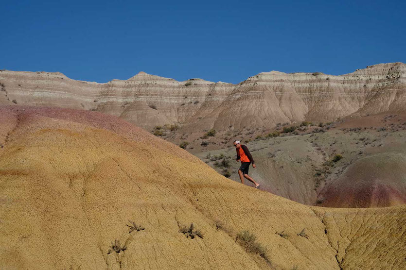 USA Badlands Nationalpark Yellow Mounds