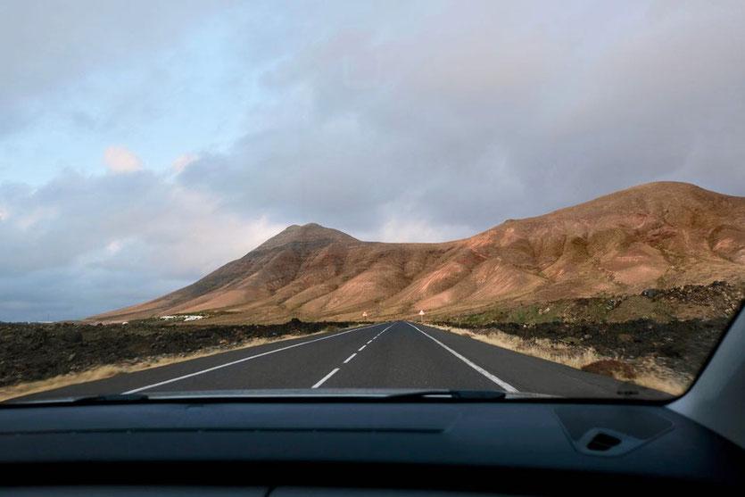Lanzarote Straßen durch den Nationalpark