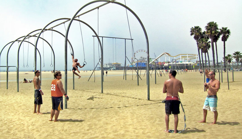 Muscle Beach, Santa Monica Pier