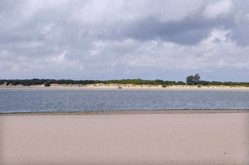 Blick auf die Dünen des Parque Nacional de Doñana, Sanlúcar