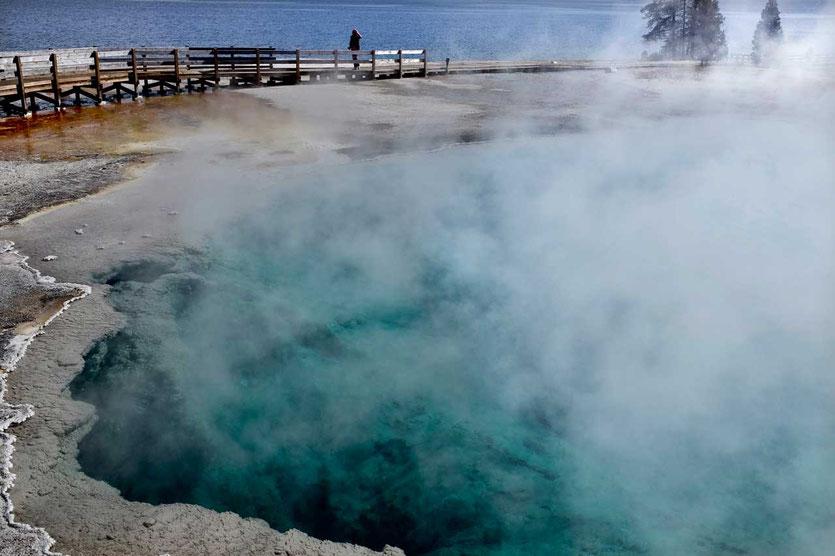 Black Pool west Thumb Geysir Basin Yellowstone Nationalpark