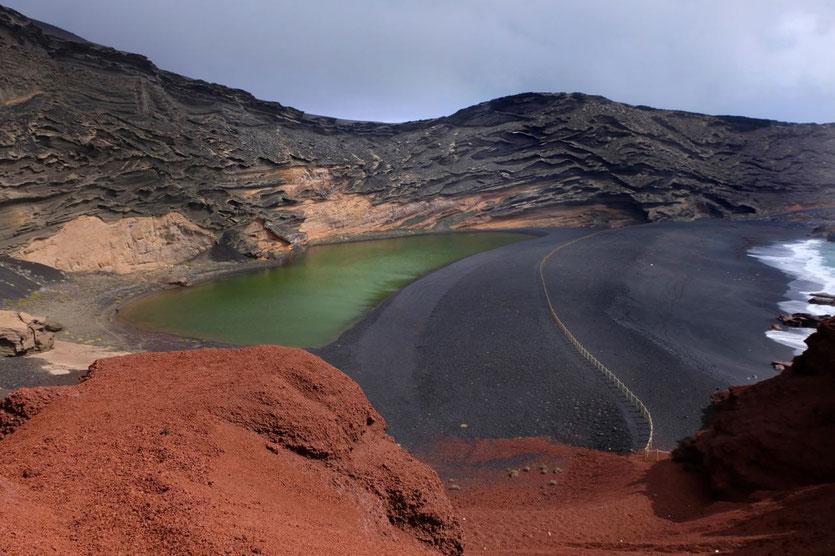 Charco de Los Clicos Lago Verde El Golfo Lanzarote