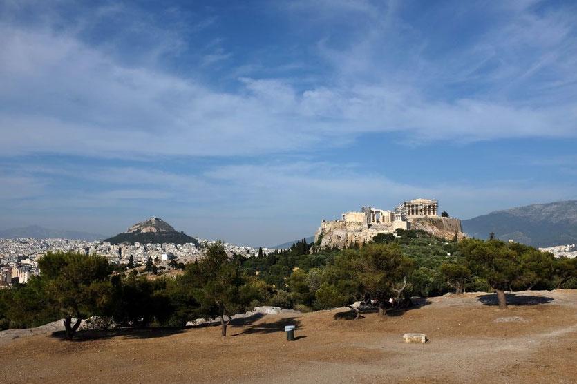Athen Akropolis Blick