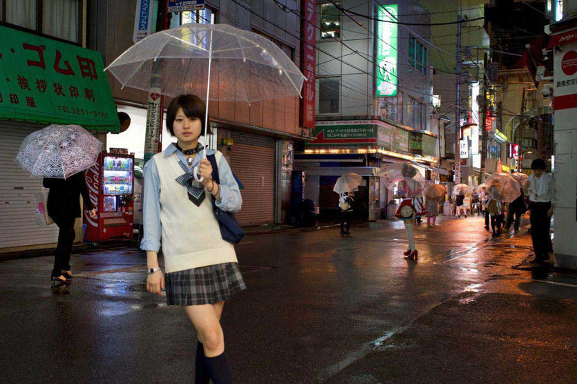 Tokio rainy day umbrella