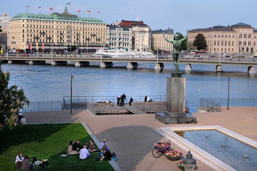 Stockholm Picknick in der Stadt