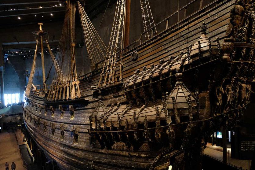 Das 400 Jahre alte Schlachtschiff Vasa Museum Stockholm