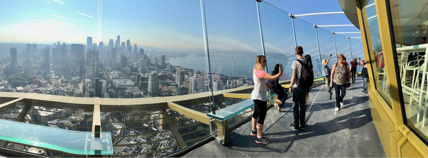 New Space Needle Seattle Turm Observation Deck