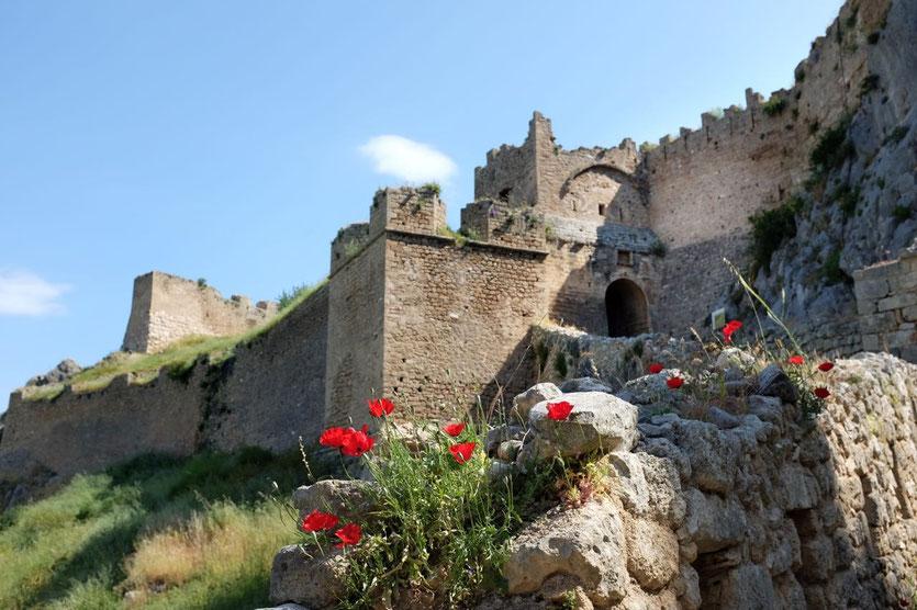Die Burg Akrokorinth Castle, Peloponnes
