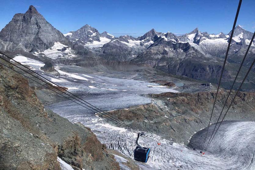Zermatt Glacier Ride Gondel Kleines Matterhorn