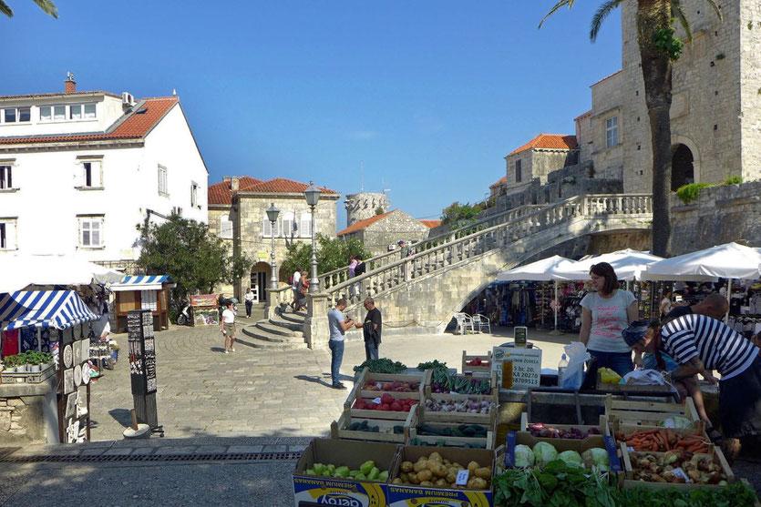 Altstadt Korcula Markt Peljesac