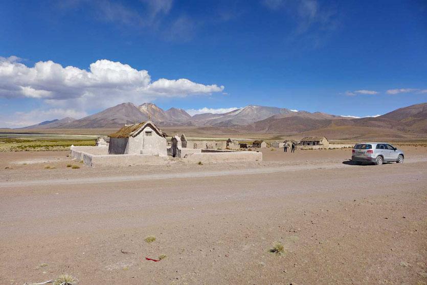 Verlassenes Altiplano-Dorf