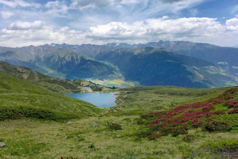 Südtirol Vinschgau schönste Wanderungen Bergsee Aussichtsberg