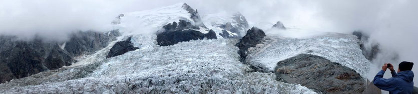Wanderung La Jonction trail Mont Blanc Chamonix
