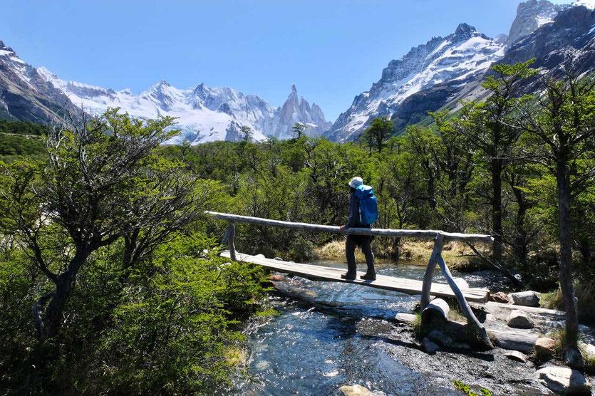 Flusstal Wanderung Laguna Torre El Chalten