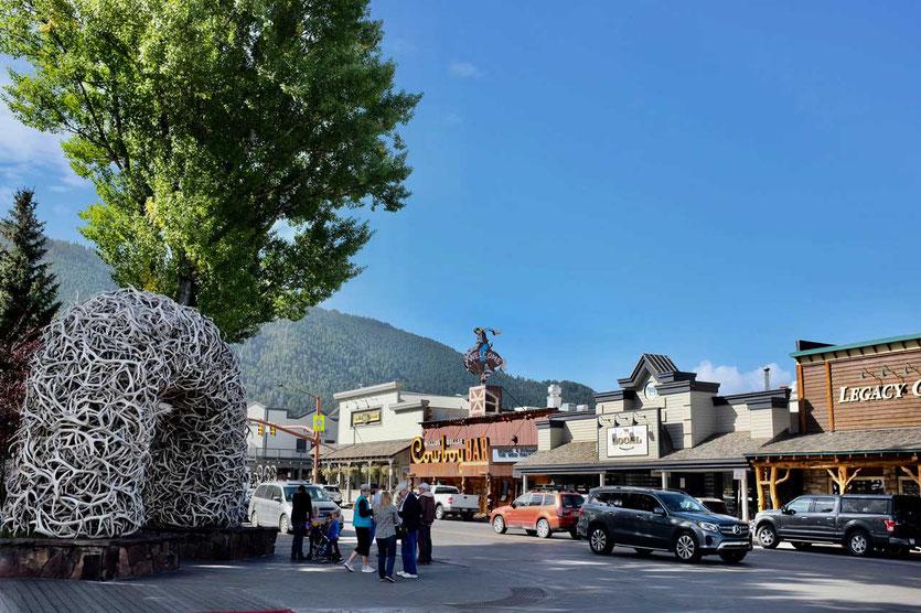 Jackson town Square Wyoming