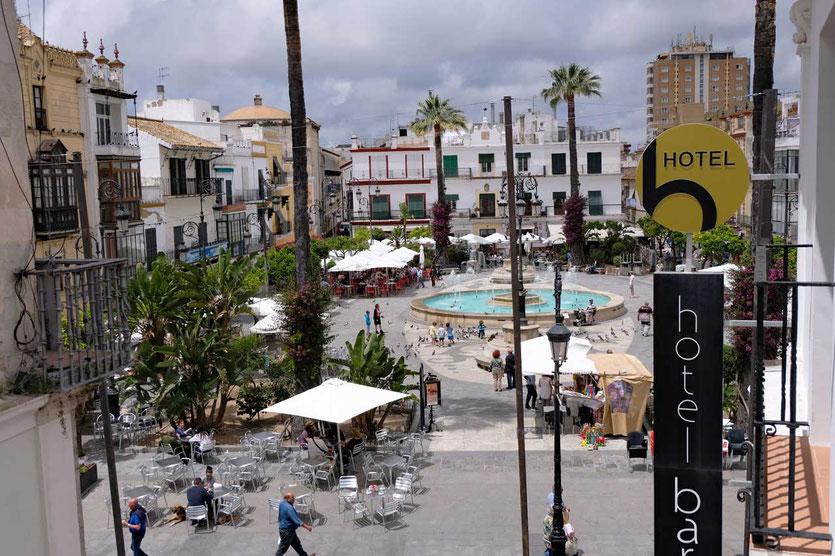 Zimmerausblick vom Hotel Barrameda Sanlucar