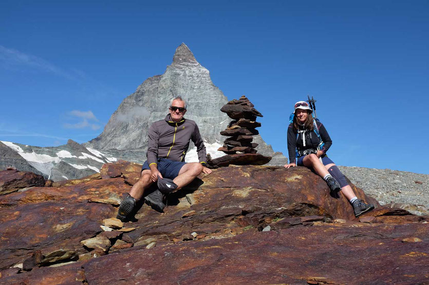 Jürgen Mahler Edel Seebauer am Matterhorn in Zermatt Reiseblog Edeltrips
