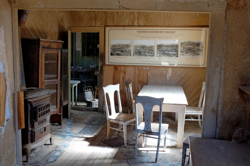 Old Room Bodie Ghost Town, State Historic Park Californien