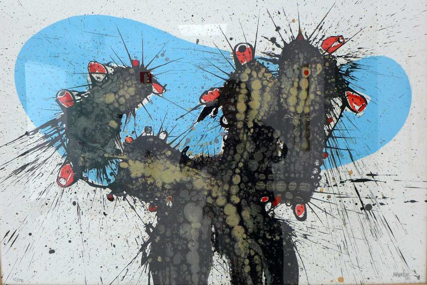 Feigenkaktus von César Manrique aus seinem Atelier im Vulkanhaus Tahíche (Fundation César Manrique)