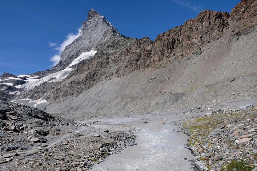 Hörnliwand auf dem Glacier Trail Zermatt