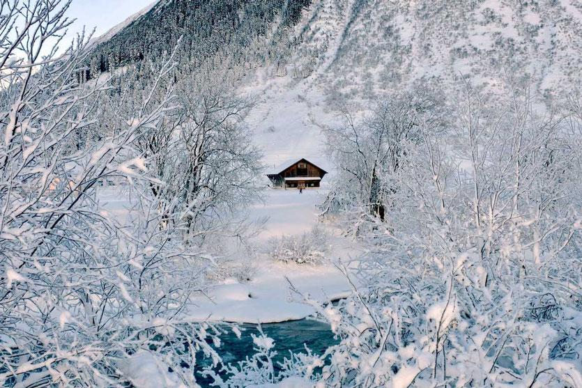 Winterlandschaft Tal Andermatt