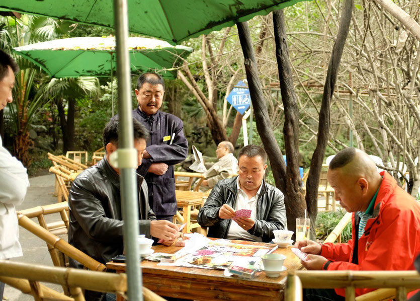 Heming Teahouse, Renmin Park Chengdu, people's park