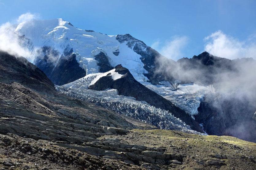Mont-Blanc Tramway Nid d'Aigle trekking Bionnassay Gletscher