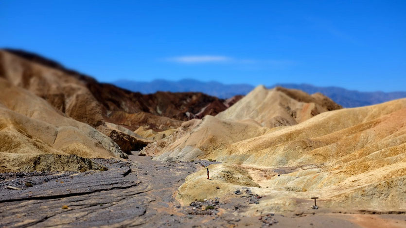 Death Valley trail Zabriskie Point highlights