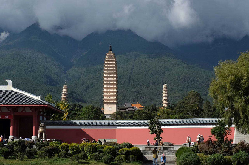 Drei Padogen San Ta Chongsheng Tempel Dali