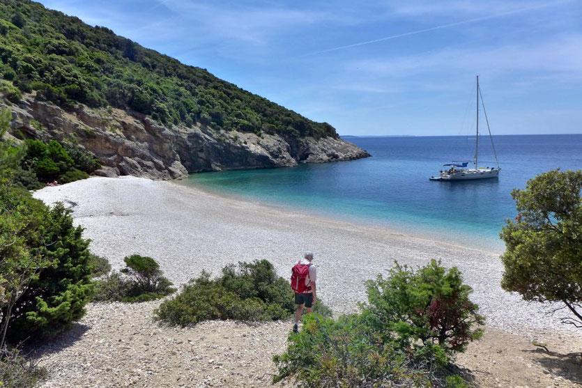 Lubenice einsamer Strand Wandern Blaue Grotte