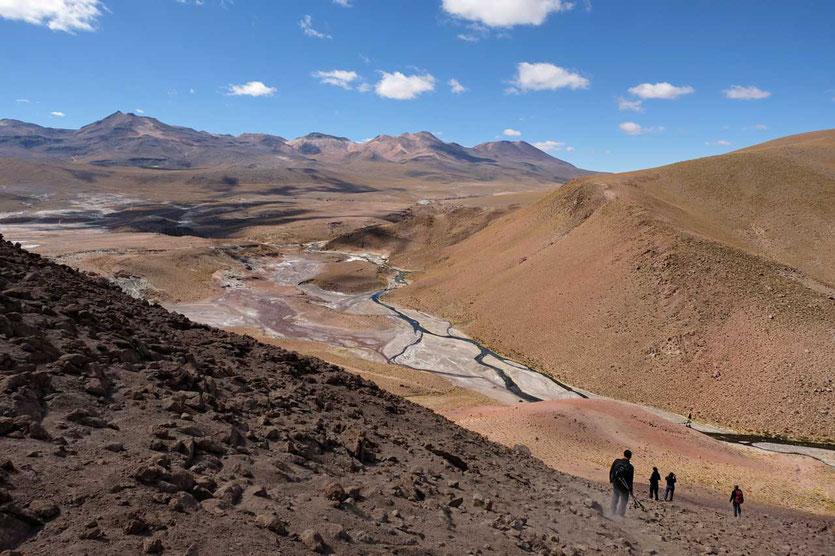 Wanderung am Rio Blanco El Tatio Atacama