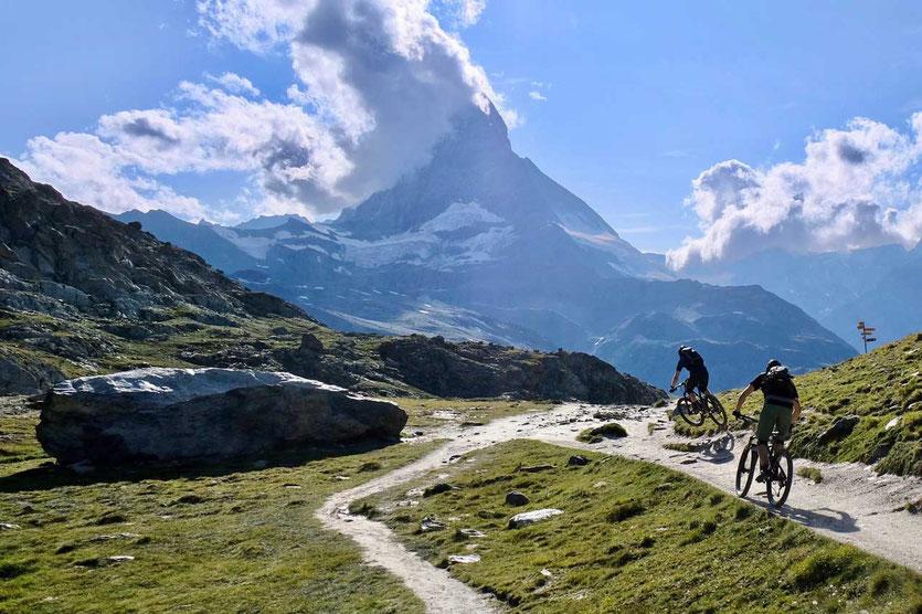 Biker in Zermatt