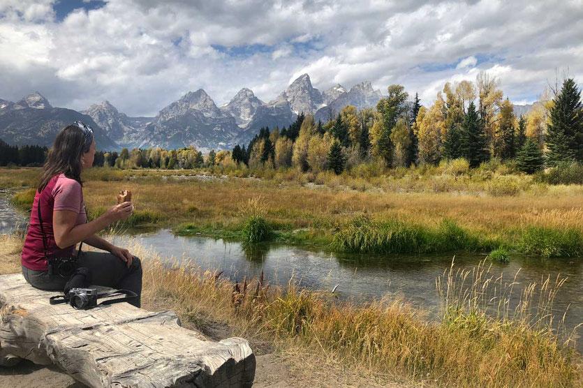Picnic-Stop am Schwabacher Landing Grand Teton