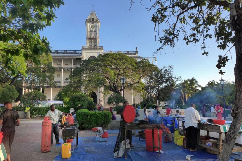 Food Market Forodhani Gardens Stoen Town