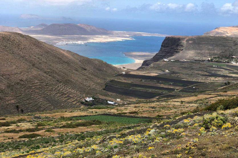 Los Helechos Vulkankrater Wanderung bei Haria Lanzarote Norden