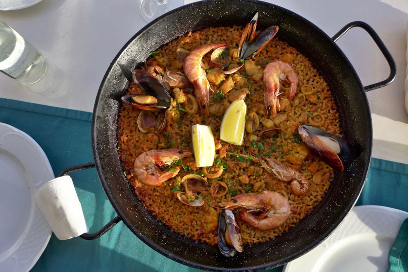 best seafood Paella Restaurant Mirador Salinas de Janubio Lanzarote