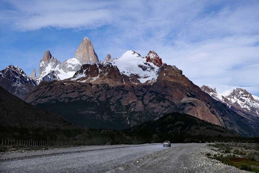 Straße von El Chalten nach El Pilar