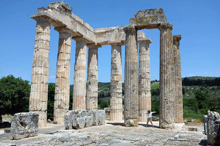 Zeus-Tempel von Nemea, Peloponnes