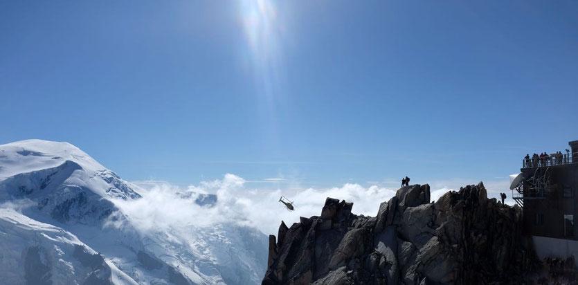 Terrasse Bergstation Aiguille du Midi (3842m) Mont Blanc viewpoint