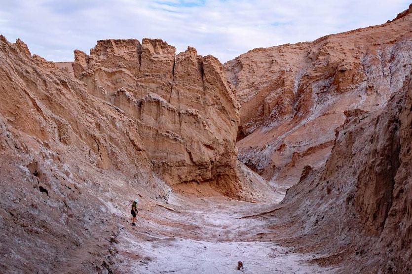 Salz-Canyon Wanderung Valle de la Luna San Pedro de Atacama