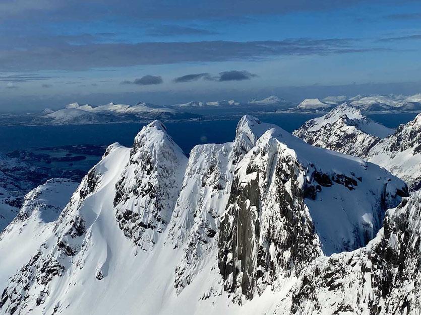 Lofoten Norwegen Skitouren