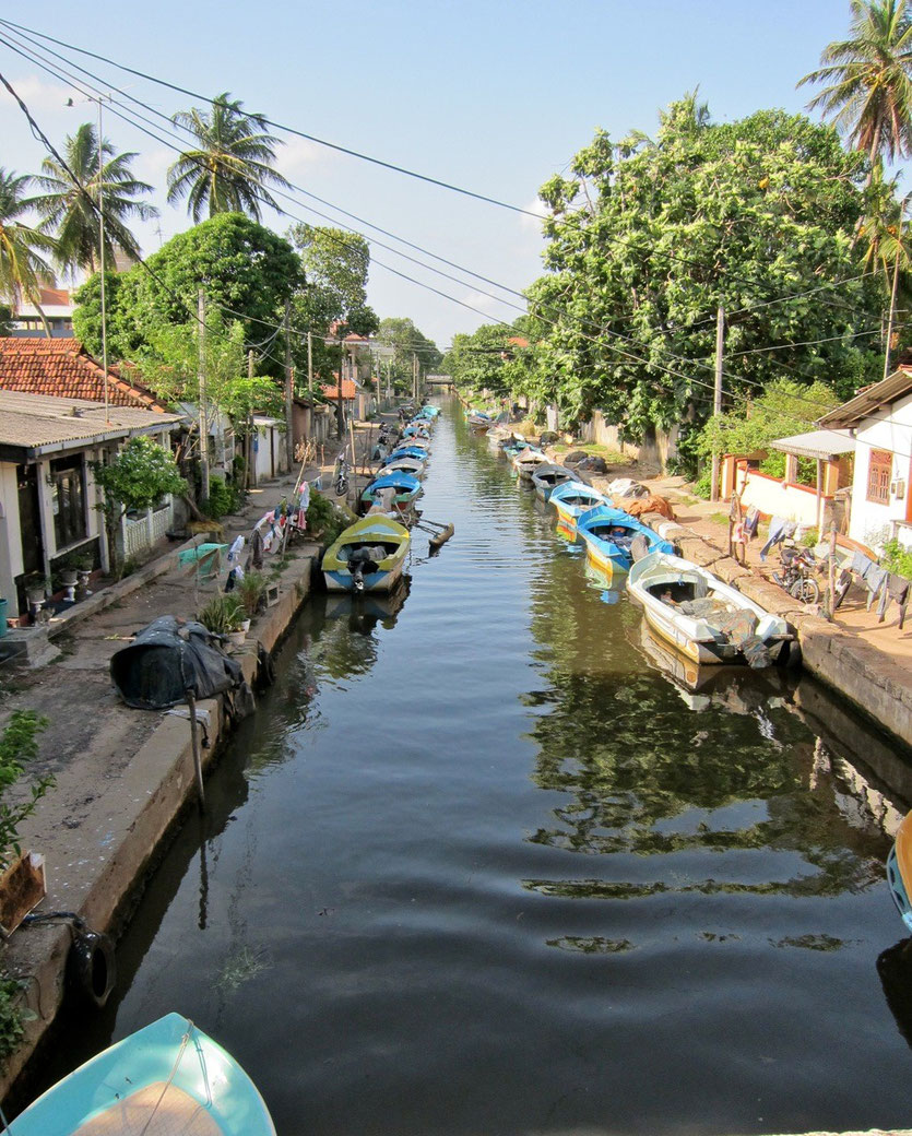 Dutch Canal in Negombo Sri Lanka